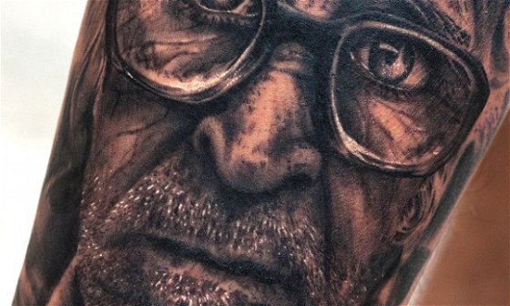 Old Man with Specs Portrait - The Making
