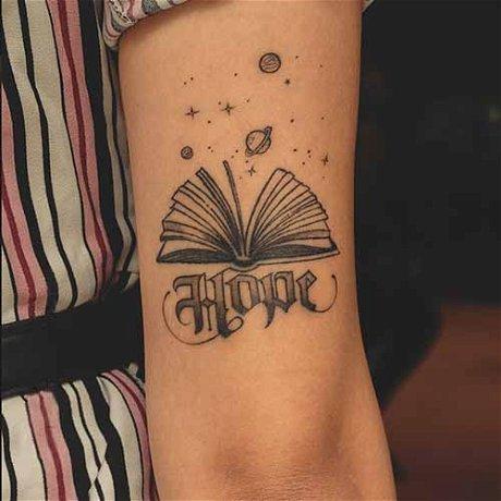 Customized Script Tattoo