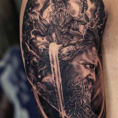Making of Mythological Brahma Arjuna Tattoo