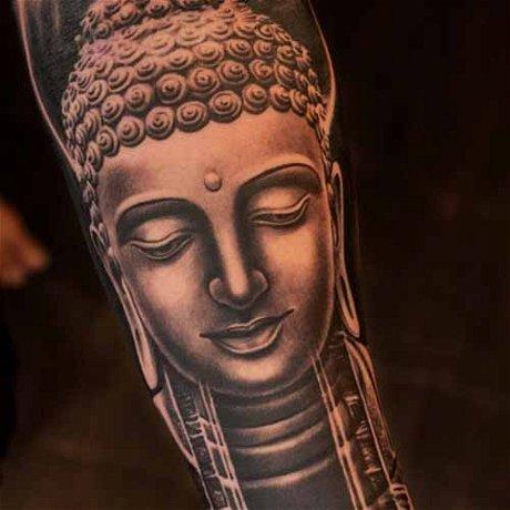 Advanced B&G Buddha Sculpture Tattoo with Sunny Bhanushali
