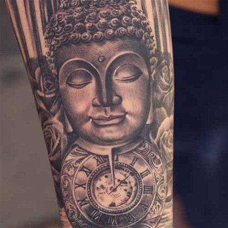 The Making of Buddha & Roses Tattoo