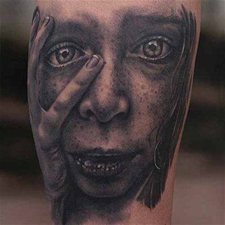 The Making of Realistic Girl Portrait Tattoo