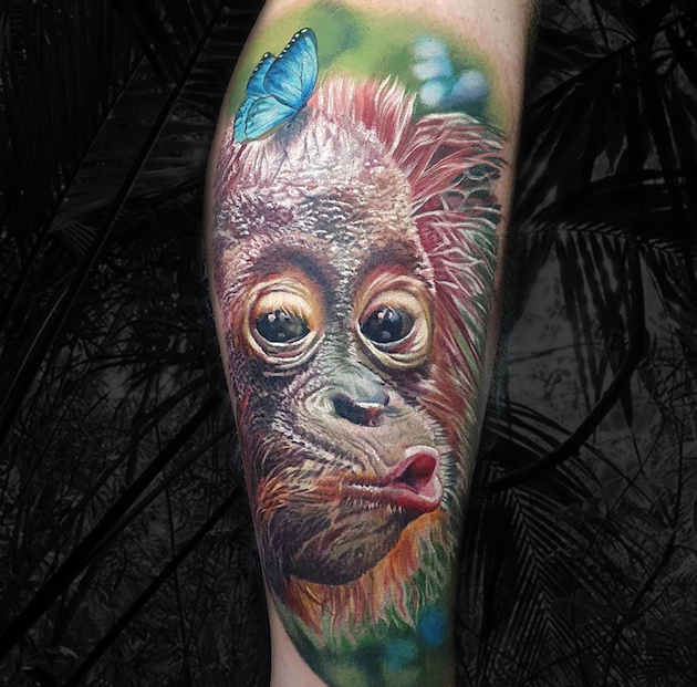 Orangutan Color Realism Tattoo Tutorial