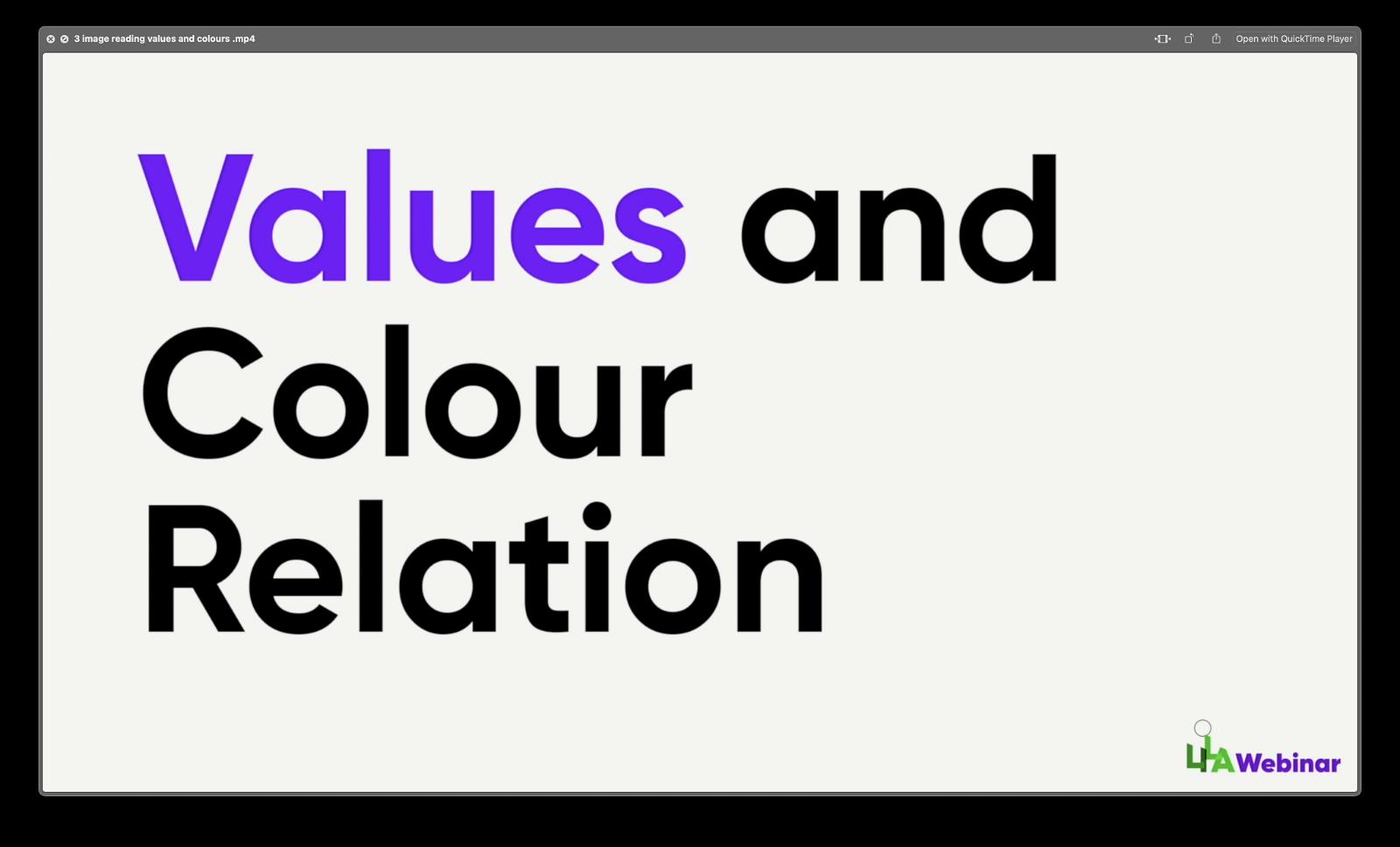 Values & Colour relation