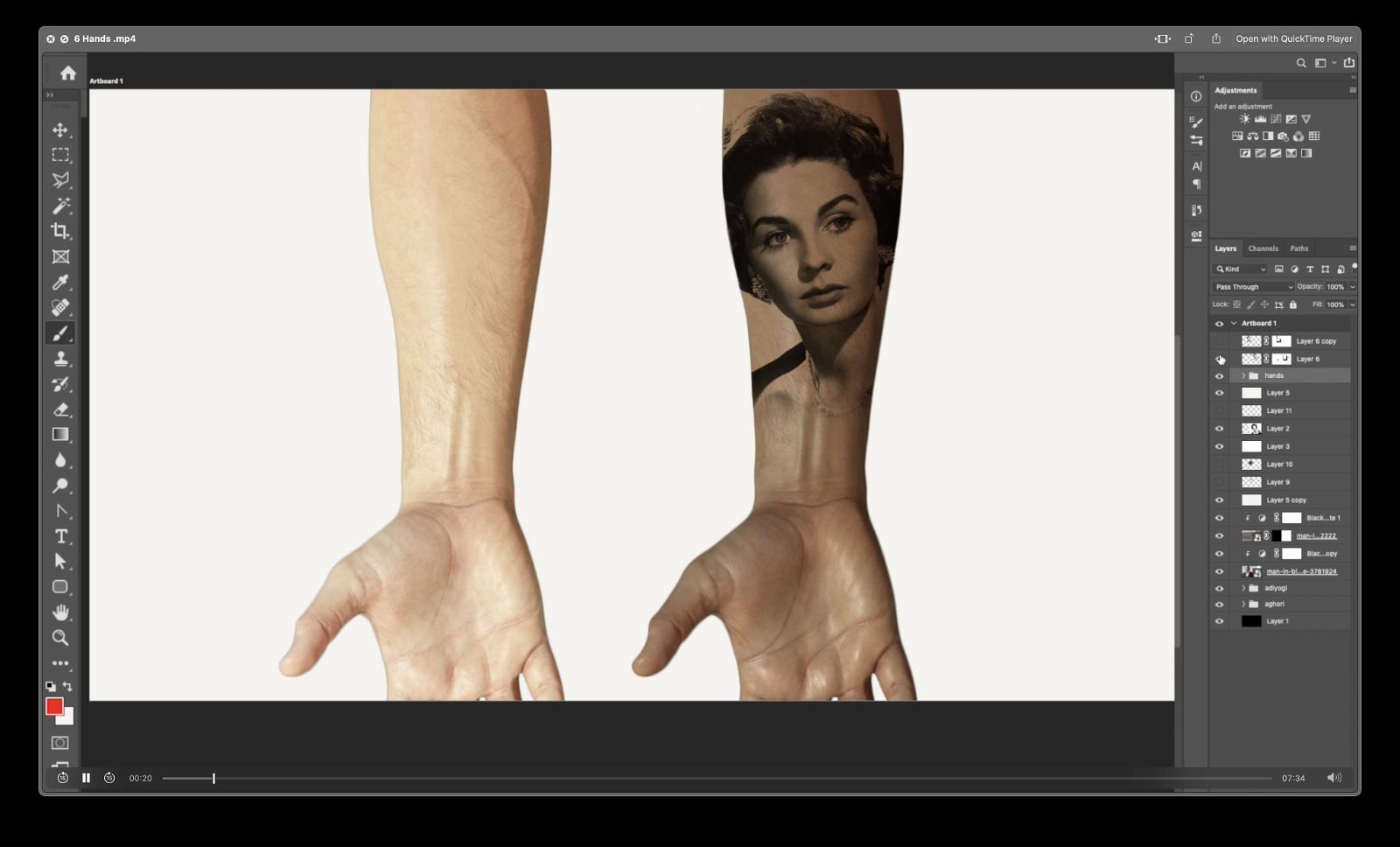 Wheatish skin Hands
