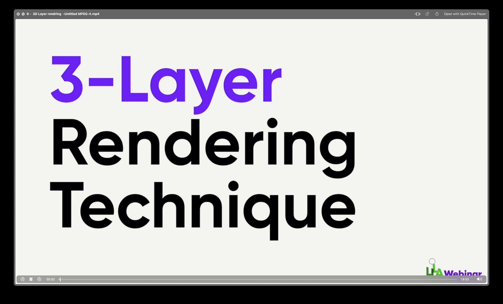 3d layer rendering technique