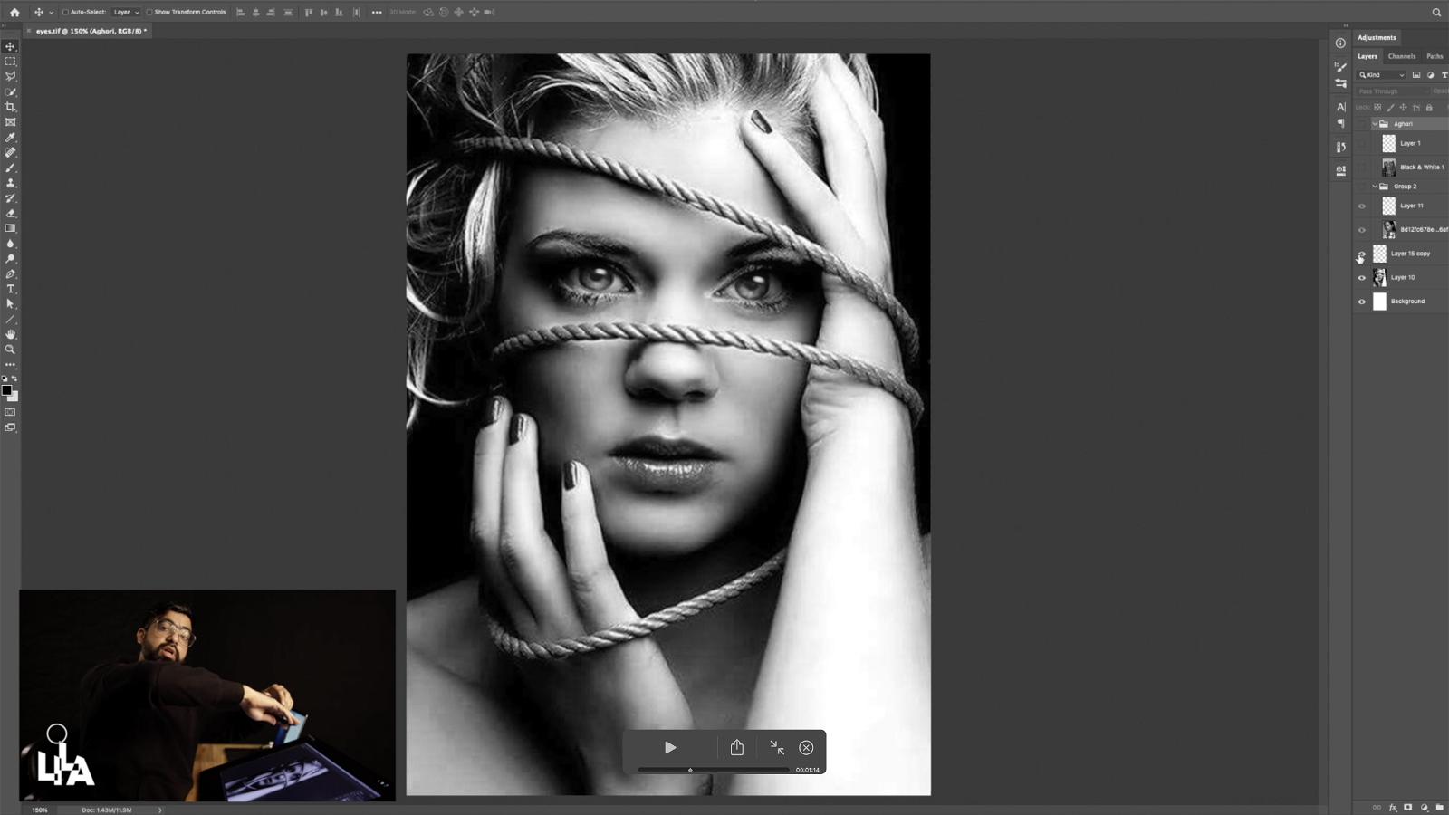 Editing Eyes to Create Surreal Eye Contact