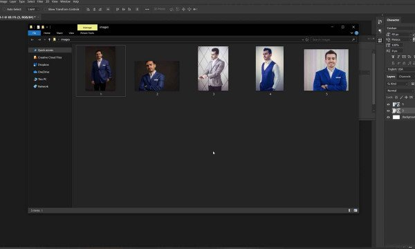 Selecting Image Assets